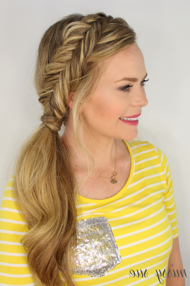 Dutch Fishtail Side Pony | Hair | Peinados, Cabello, Alto inside Most Current Fishtail Side Braid Hairstyles