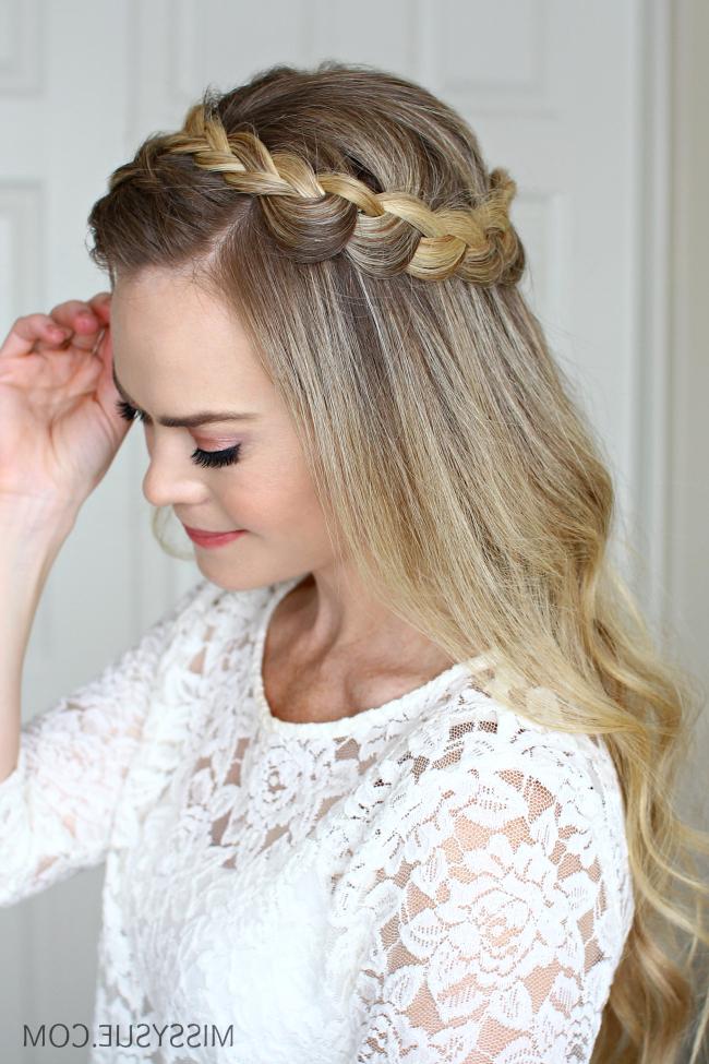 Dutch Halo Braid | Missy Sue regarding Latest Halo Braid Hairstyles With Bangs