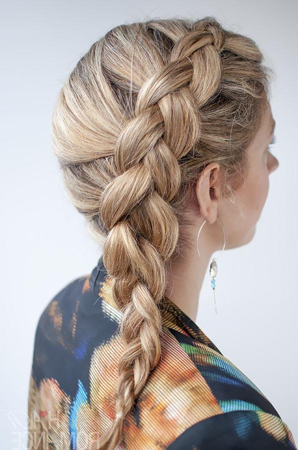 Dutch Side Braid Hairstyle Tutorial - Hair Romance regarding Most Current Three Strand Side Braid Hairstyles