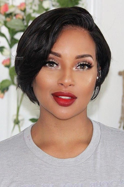 Ear Length Neck Length Hairstyles For Black Hair On Stylevore Intended For Ear Length French Bob Hairstyles (View 17 of 25)