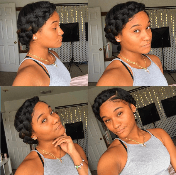 Elegant Chic Halo Braid   Natural Hair Styles, Curly Hair With Newest Updo Halo Braid Hairstyles (View 16 of 25)
