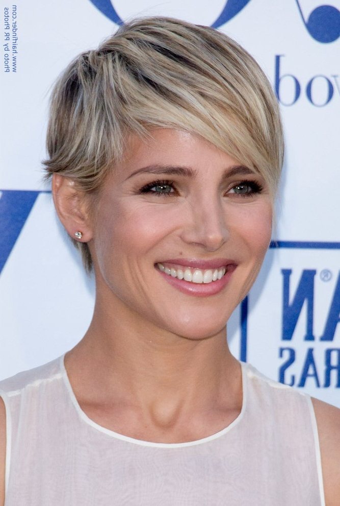 Elsa Pataky | Short Blonde Pixie Haircut With A Tapered Neck Inside Current Blonde Pixie Haircuts (View 24 of 25)