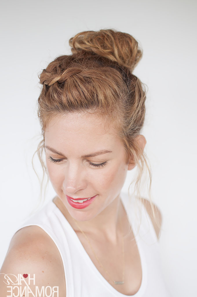Everyday Curly Hairstyles – Curly Braided Top Knot Hairstyle For Most Recently Braided Topknot Hairstyles (View 21 of 25)