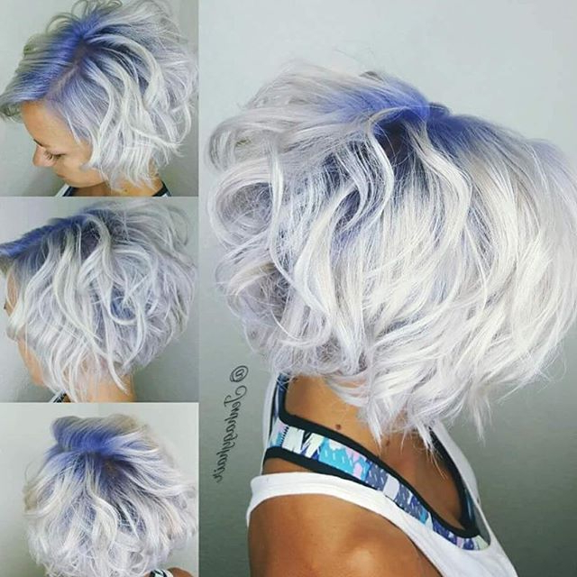 ? ? White Blonde With Blue Shadow Root@jenhagyhair Throughout Best And Newest Long Undercut Hairstyles With Shadow Root (View 14 of 25)
