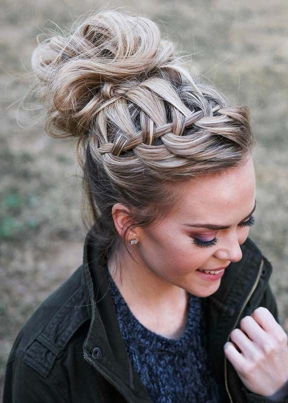 Featured Photo of High Waterfall Braid Hairstyles