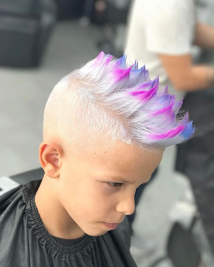 Fade For Kids: 24 Cool Boys Fade Haircuts | Men Hair Color inside Newest Faux-Hawk Fade Haircuts With Purple Highlights