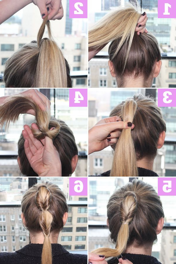 Fake Fishtail Braid – Cool Ponytail Hair Tutorial Intended For Latest Ponytail Fishtail Braid Hairstyles (View 16 of 25)