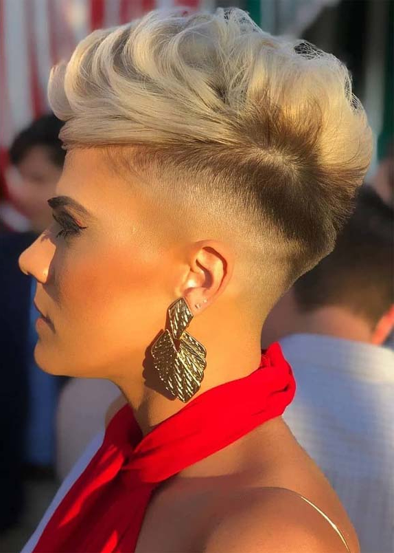 Fantastic Undercut Blonde Short Pixie Cuts For Girls In 2019 intended for Most Recently Blonde Pixie Haircuts