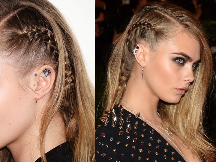 Fashionation: The Braided Faux Undercut with regard to Recent Faux Undercut Braid Hairstyles