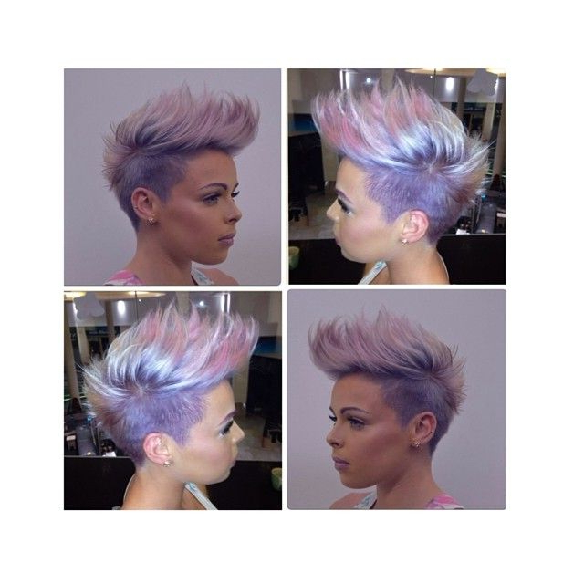 Faux Hawk, Undercut, Pastel Purple | Funky Short Hair, Hair with regard to Most Up-to-Date Faux-Hawk Fade Haircuts With Purple Highlights
