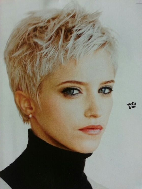 Feminine Short Hairstyles And Very Short Pixie Hair Colors within Current Sassy Short Pixie Haircuts With Bangs