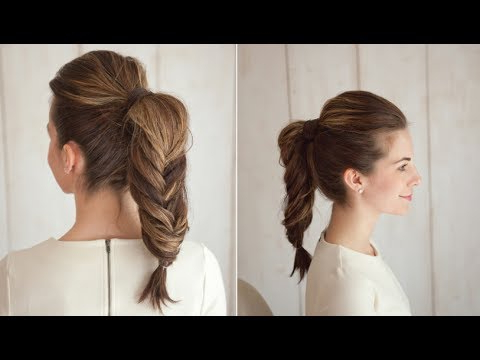 Fishtail Braid Ponytail intended for Latest Ponytail Fishtail Braid Hairstyles