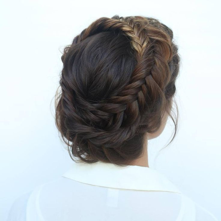 Fishtail Crown Braid | Tangles | Braids For Long Hair, Cool within Recent Milkmaid Crown Braids Hairstyles