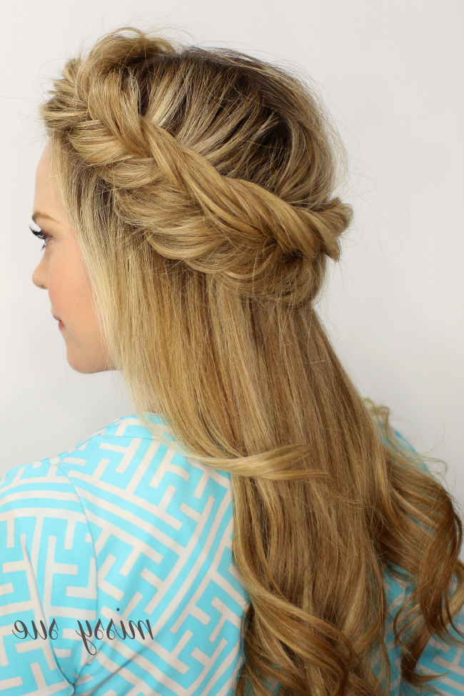 Fishtail Halo Braid | Braided Hairstyles, Long Hair Styles within Latest Fishtail Crown Braid Hairstyles