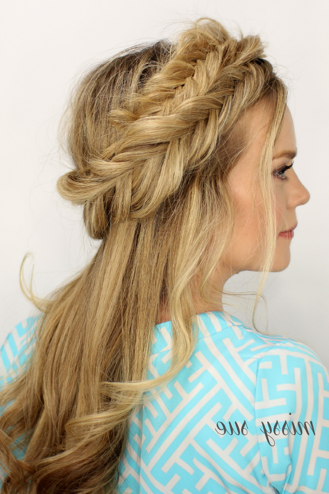 Fishtail Halo Braid pertaining to 2020 Fishtail Crown Braid Hairstyles