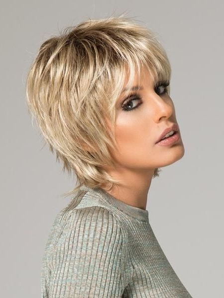 Flipped Out Shaggy Bob - Google Search | Short Straight Hair intended for Most Up-to-Date Flipped Up Platinum Blonde Pixie Haircuts