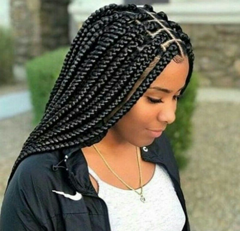 Follow ?||Nia||For More Lit Pins #boxbraidedhairstyles within 2020 Medium-Sized Braids Hairstyles