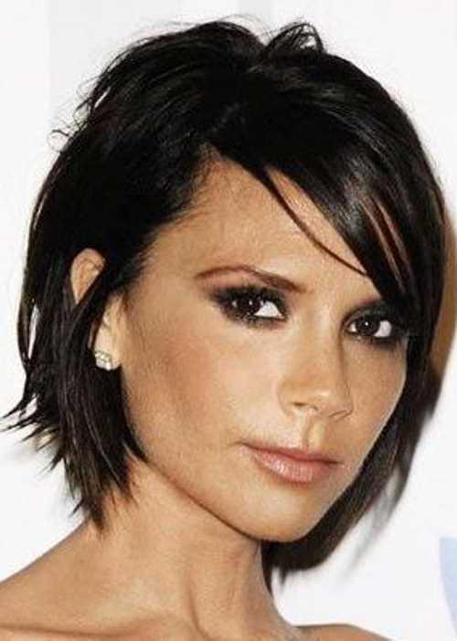 Former Singer And Now Fashion Designer Victoria Beckham Intended For Most Current Edgy Look Pixie Haircuts With Sass (View 20 of 25)