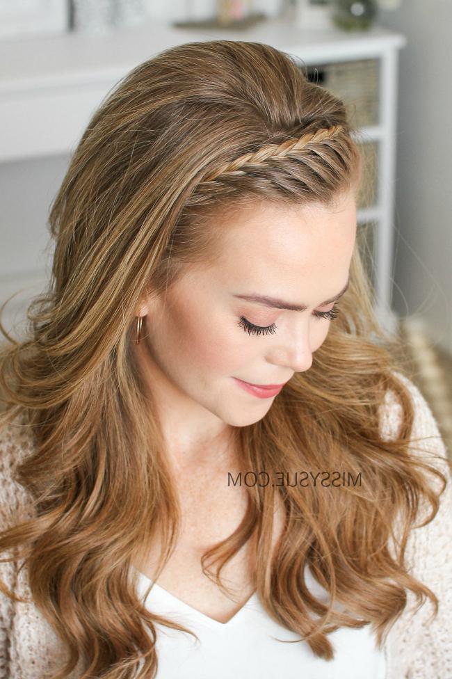 French Lace Headband Braid | Missy Sue throughout Current Full Headband Braid Hairstyles