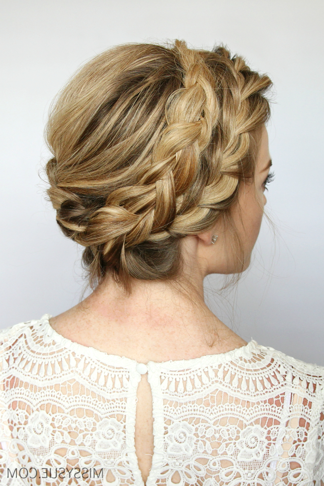 French Milkmaid Braids | Missy Sue intended for Recent Milkmaid Crown Braids Hairstyles