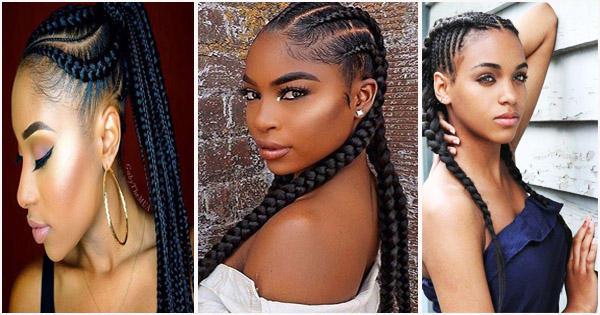 Ghana Braids Or Banana Cornrows: Ideas Of African Hairstyles in Most Up-to-Date Accessorized Straight-Backs Braids