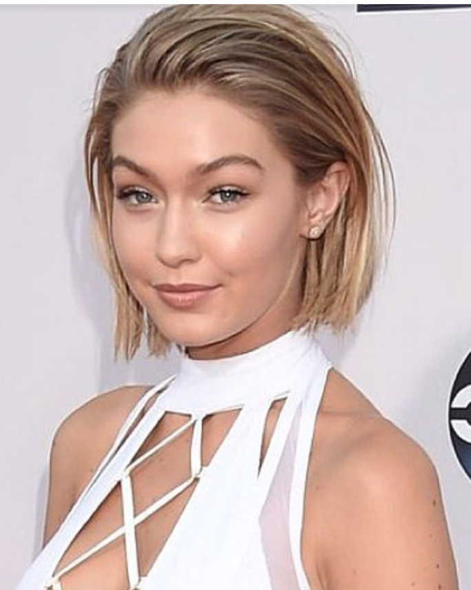 Gigi Hadid Bob / Ama's In 2019 | Short Hair Styles, Short throughout Slicked Bob Hairstyles