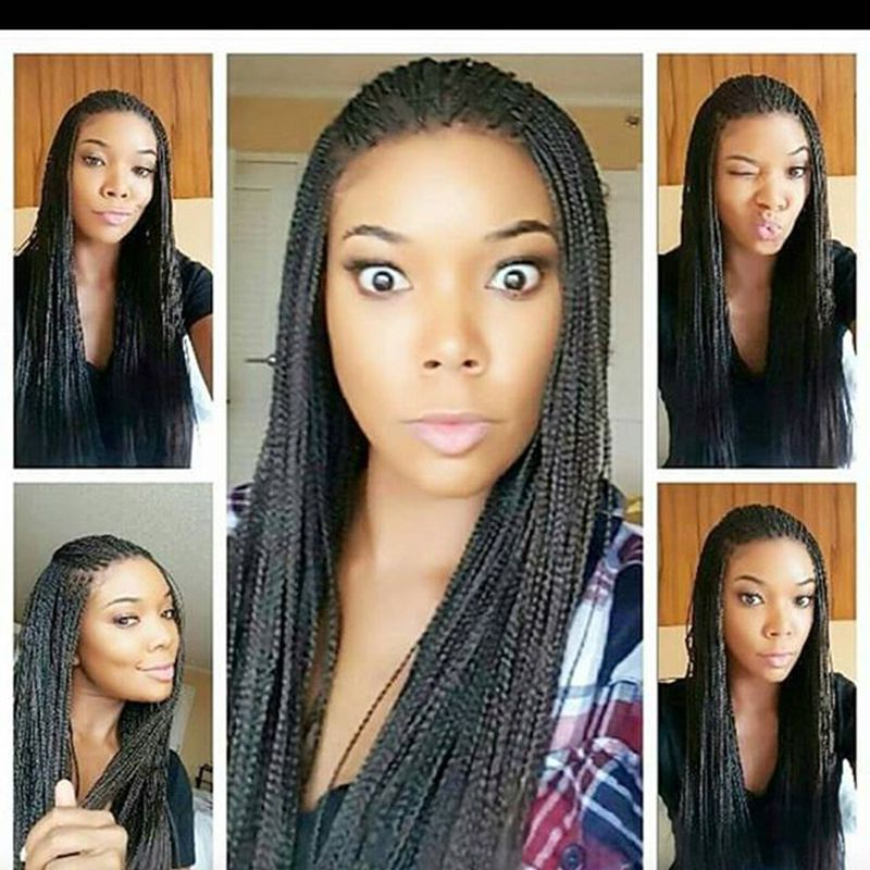 Glueless African American Women Wig With Thin Micro Braids within Most Recent Ultra-Thin Micro Braids Hairstyles