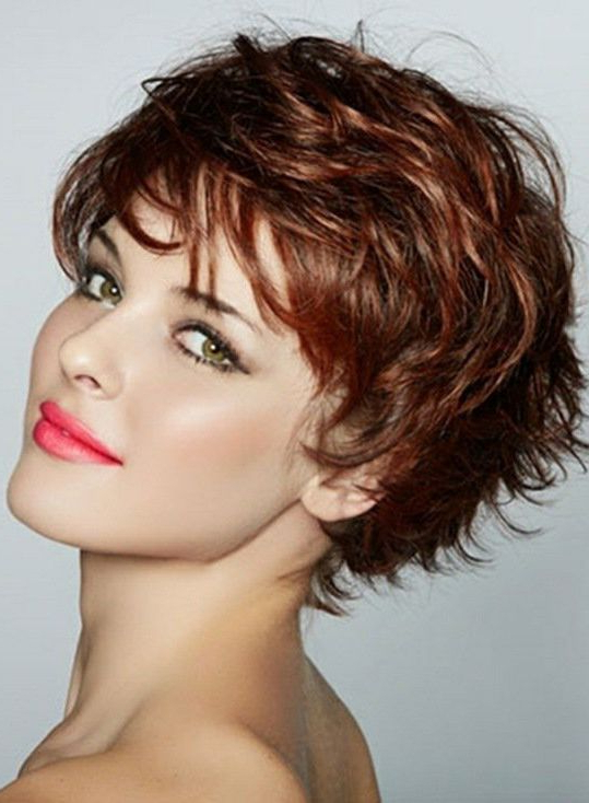 Graceful Short Feathered Pixie Haircut With Wispy Bangs within Most Recent Pixie Haircuts With Wispy Bangs