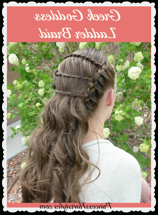 Greek Goddess Ladder Braid, Wedding And Prom Hairstyles For Most Recently Grecian Inspired Ponytail Braid Hairstyles (View 20 of 25)