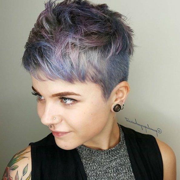 Hair @pamelapaynehairart | @rhianna Browne | @joico '17 With Most Popular Metallic Short And Choppy Pixie Haircuts (View 13 of 25)