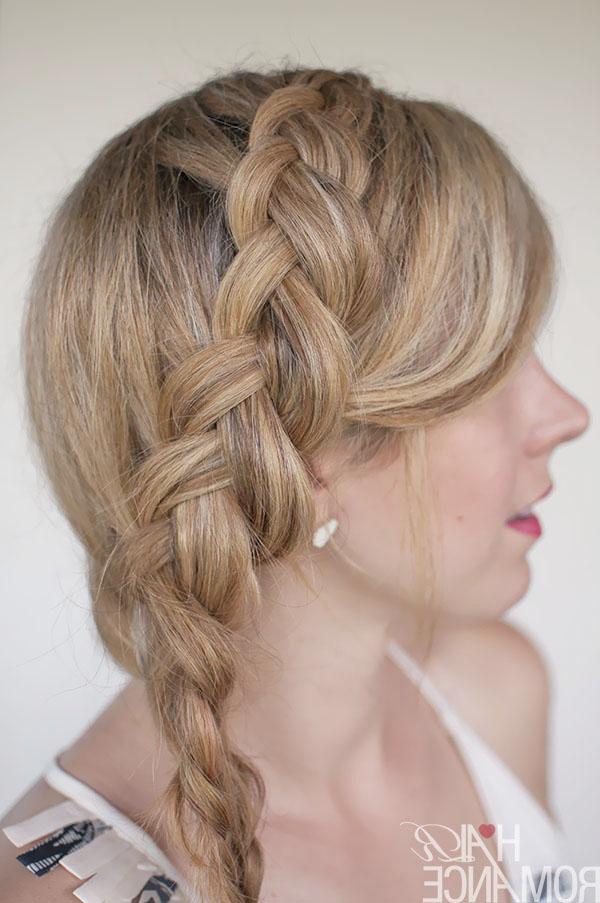 Hairstyle Tutorial – Dutch Side Mermaid Braid – Hair Romance Within Latest Three Strand Side Braid Hairstyles (View 8 of 25)