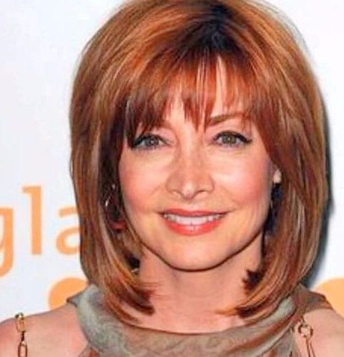 Hairstyles For Women Over 60: 50 Celebrity Inspired Looks In Cute Round Bob Hairstyles For Women Over  (View 9 of 25)