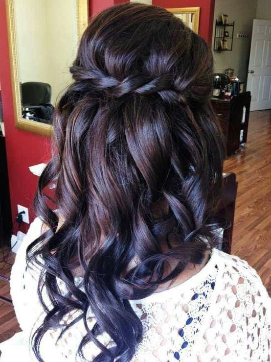 Halo Braid And Curls   Hair Styles, Long Hair Styles With Regard To Most Current Halo Braid Hairstyles With Long Tendrils (View 13 of 26)
