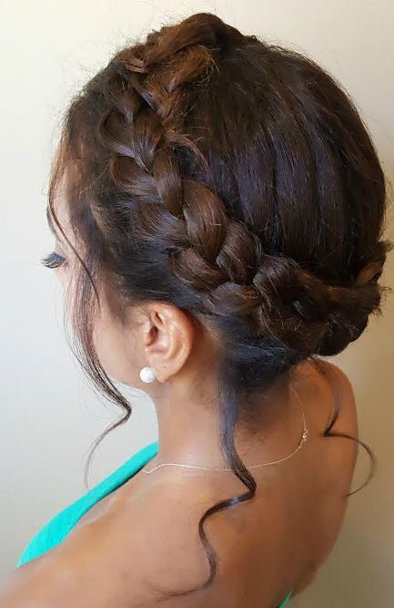 Halo Braid Updo For Natural Textured Hair (View 6 of 25)