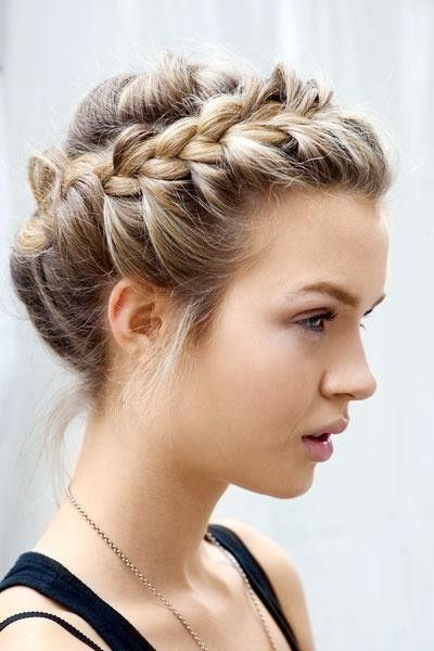 Halo Braid Updo Hairstyle! Easy And Effortless Look For In Most Up To Date Updo Halo Braid Hairstyles (View 10 of 25)