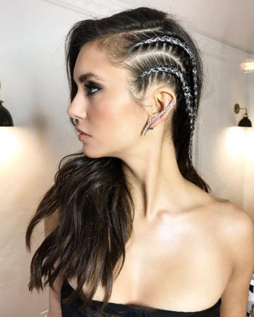Heavy Metal Braidsriawna Capri | Braids For Long Hair For 2020 Metallic Side Cornrows Hairstyles (View 2 of 25)