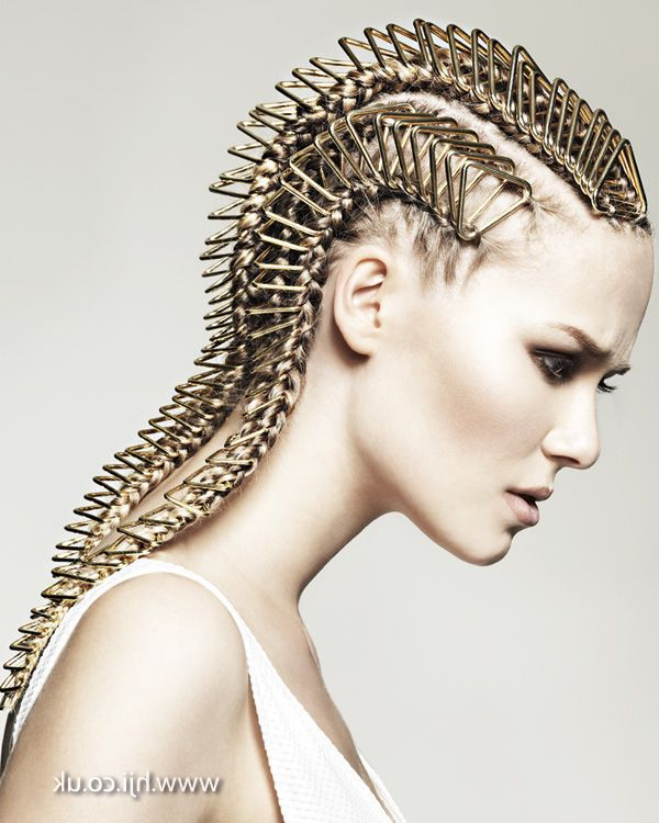 Heavy Metal Cornrows | Editorial Hair, Hair Inspiration With Regard To Newest Metallic Side Cornrows Hairstyles (View 14 of 25)