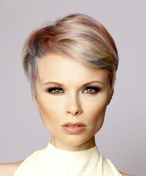 Highlights For Short Hair Within Most Up To Date Short Side Swept Pixie Haircuts With Caramel Highlights (View 13 of 25)