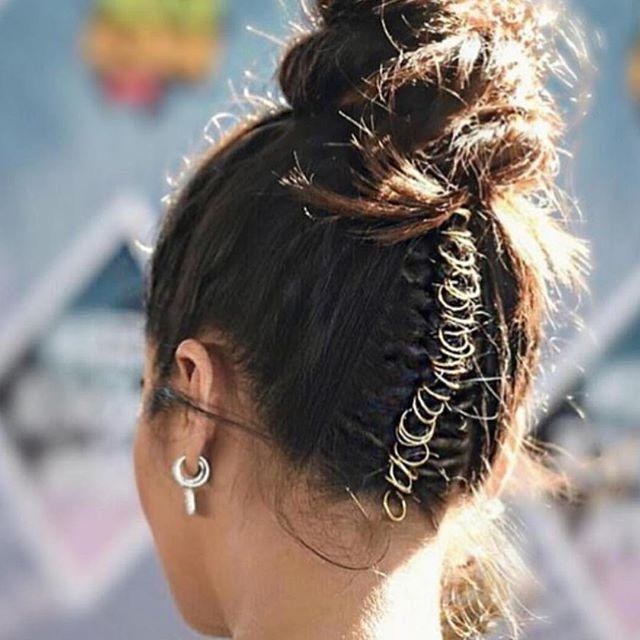 Hoop It Up #styleinspo #updo | Hair Hoops, Braided In Most Recent Hoop Embellished Braids Hairstyles (View 6 of 25)