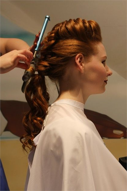 How To: Braided Pompadour & Ethereal Ponytailaquage With Best And Newest Modern Braided Top Knot Hairstyles (View 20 of 25)