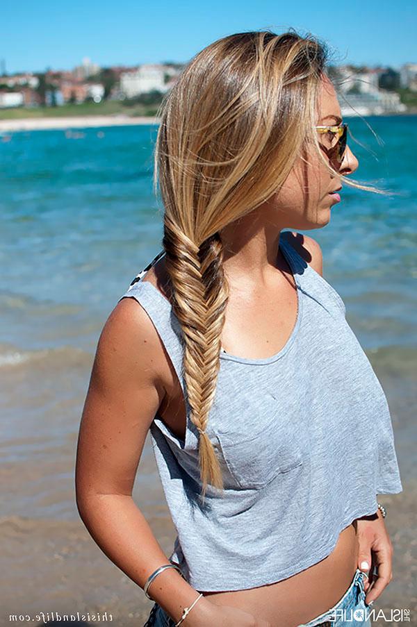 How To Do A Fishtail Side Braid – Hair Romance Within Recent Fishtail Side Braid Hairstyles (View 14 of 25)