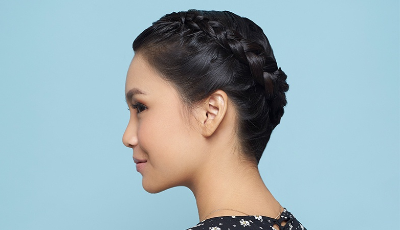 How To Do A Halo Braid Hairstyle Intended For Most Popular Updo Halo Braid Hairstyles (View 19 of 25)