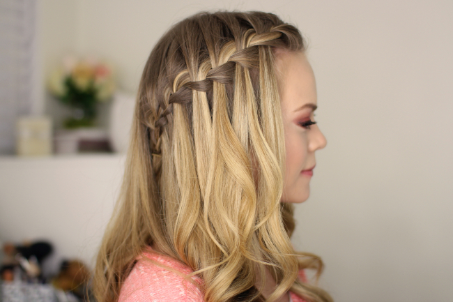 How To Do A Waterfall Braid Intended For Recent High Waterfall Braid Hairstyles (View 6 of 25)