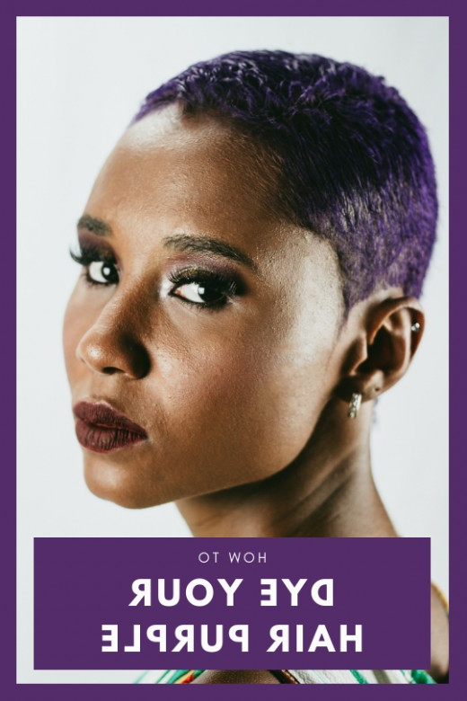 How To Dye Your Hair Purple | Bellatory Pertaining To Most Recent Plum Brown Pixie Haircuts For Naturally Curly Hair (View 19 of 25)