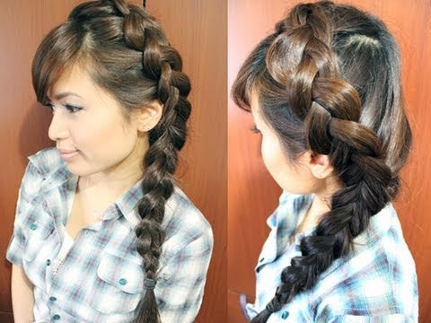 How To: Side Dutch Braid Hairstyle For Medium Long Hair Tutorial Inside Most Recent Side Dutch Braid Hairstyles (View 9 of 25)