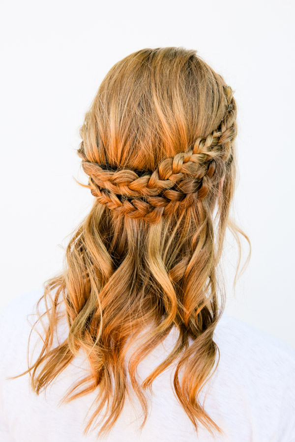 I Can See Your Halo, Halo: A Half Halo Braid Tutorial In 10 For Most Up To Date Braided Halo Hairstyles (View 24 of 25)