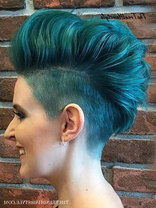 Ice Them Out – 35 Short Punk Hairstyles To Rock Your Fantasy For Recent Faux Hawk Fade Haircuts With Purple Highlights (View 23 of 25)