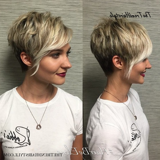 Icy Short Pixie Cut – 60 Cute Short Pixie Haircuts For Newest Metallic Short And Choppy Pixie Haircuts (View 4 of 25)