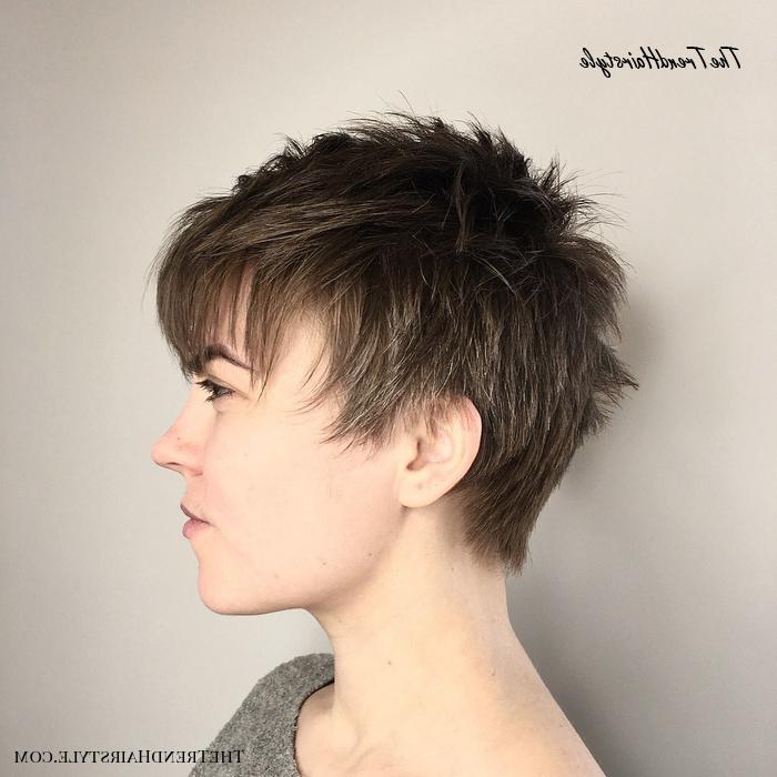 Icy Short Pixie Cut – 60 Cute Short Pixie Haircuts Inside Latest Metallic Short And Choppy Pixie Haircuts (View 9 of 25)