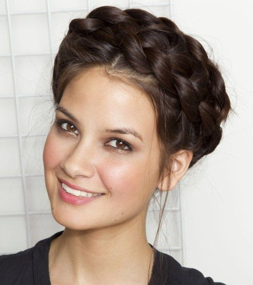 Image Result For Braid Crown Front View   Braids For Long In Current Milkmaid Crown Braids Hairstyles (View 3 of 25)